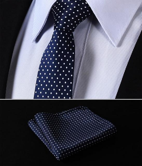 "TD119B6 Blue Polka Dot 2.4"" 100%Silk Woven Slim Skinny Narrow Men Tiedresskily-dresskily"