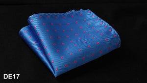 DE Polka Dot Silk Satin Pocket Square Hanky Jacquard Woven Classic Weddingdresskily-dresskily