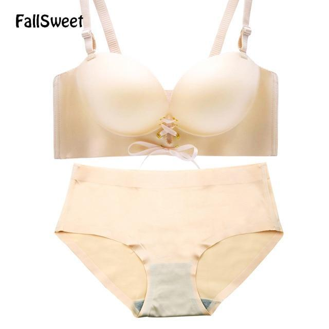 FallSweet Padded Push Up Women Bra Set Sexy Lingerie Set for Smalldresskily-dresskily