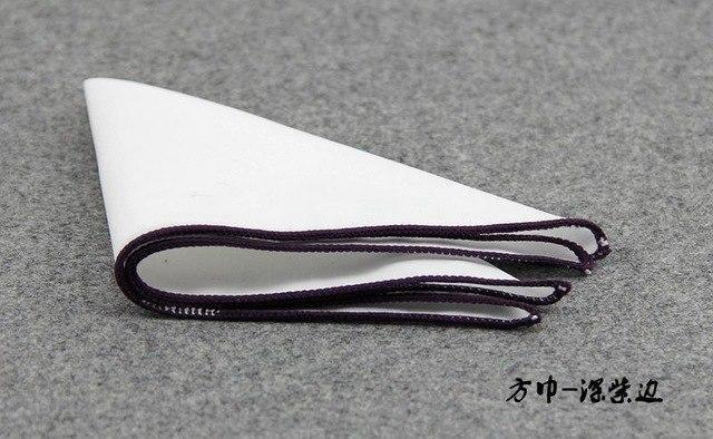Solid Color Men's White Handkerchief Small Pocket Square Business Chestdresskily-dresskily