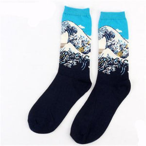 Famous European Art Socks Women Paint Female Socks Madam Casual Tube Socksdresskily-dresskily