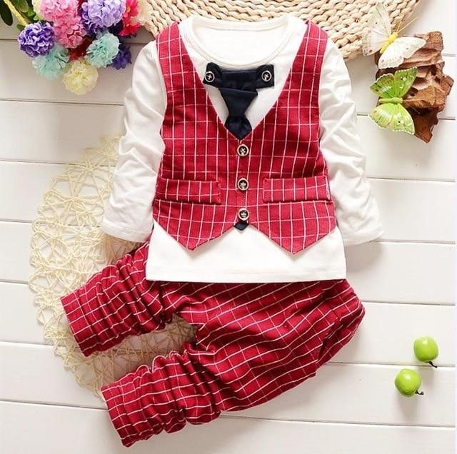 Baby Boys clothes set fashion infant clothing baby girl suits formal gentlemandresskily-dresskily