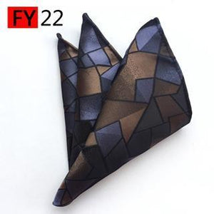 25*25cm Polyester Handkerchief Men's Business Suit Floral Pocket Square Hankies Classicdresskily-dresskily