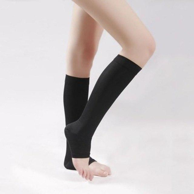 18-21mmHg Knee High Compression Stockings Men Women Elastic Leg Support Stockings Opendresskily-dresskily