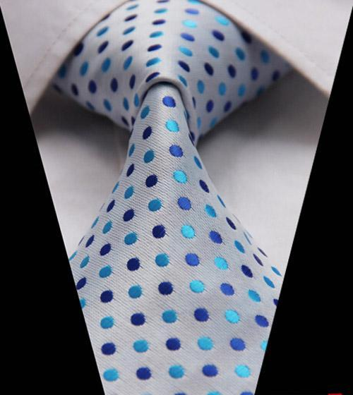 Formal Business Men's Jacquard Neck Ties for Men Classic Stripe Polyesterdresskily-dresskily