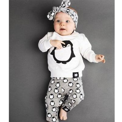 Sodawn New Autumn Baby Clothes Set Cotton Long Sleeve T-shirt Top+Pants Infantdresskily-dresskily
