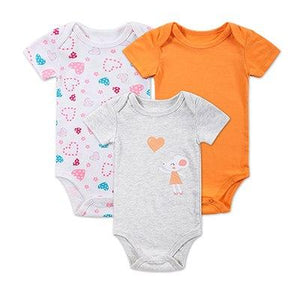 2016 Spring Baby Rompers Boys Girls Jumpsuit 3 Pcs/Lot Body Suits Cottondresskily-dresskily
