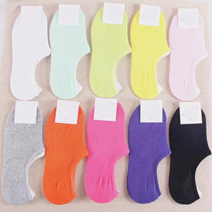 Comfortable cartoon ankle invisible women socks cute female men Ladies bamboo nodresskily-dresskily