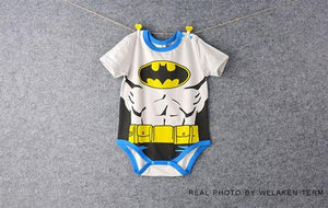 Infant Short Sleeve Super Man Cartoon Romper Boys Girls Cute Clothesdresskily-dresskily