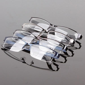 New Wholesales Durable Mens Eyewear Metal Frame Half Rim Designer Clear Lensdresskily-dresskily