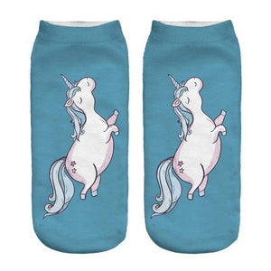 New Hot Women Hosiery 3D Printing Socks Aqua Unicorn Meias Causaldresskily-dresskily