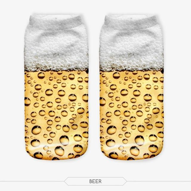 Hot Sales Beer Graphic 3D Graphic Full Printing Sock Women Meiasdresskily-dresskily