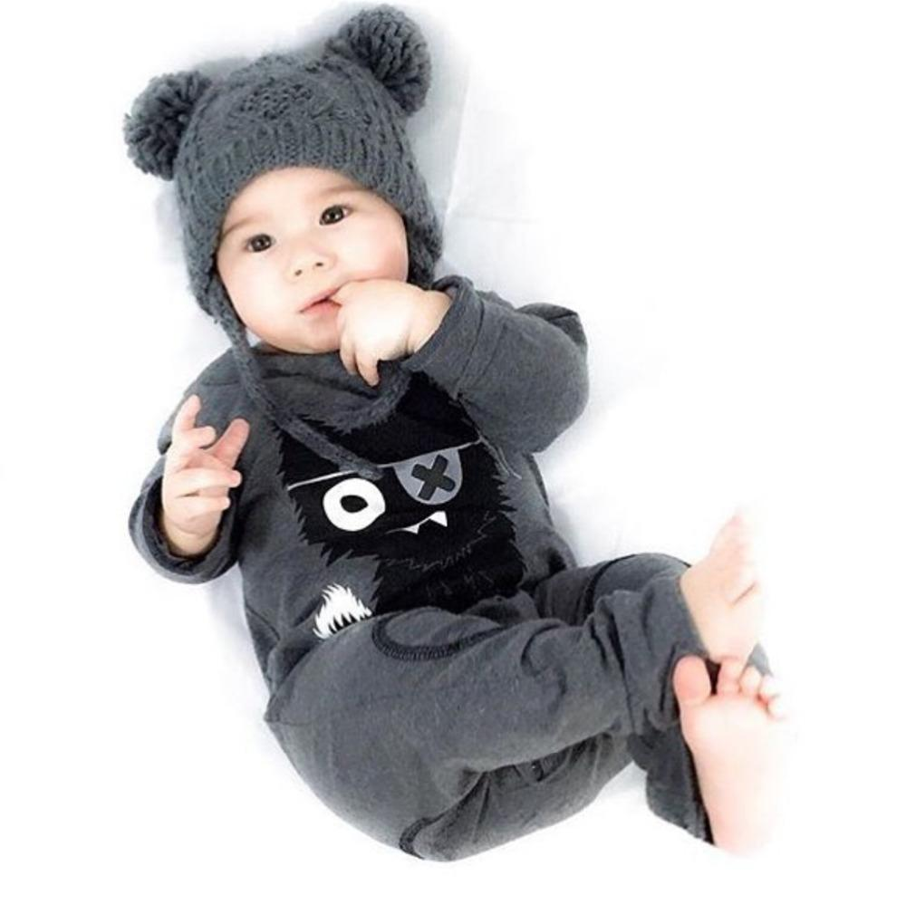 2017 new style baby boy clothes sets long sleeved cartoon baby rompersdresskily-dresskily