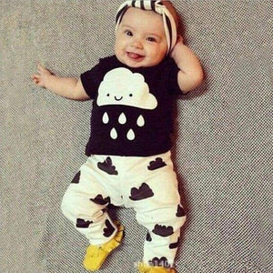 Retail 2016 Summer Style Infant Clothes Baby Clothing Sets boy Cotton Raindresskily-dresskily