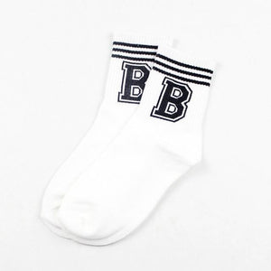 New Hot Korean Women Cotton Socks Girl Cute Letter Pattern Female Candydresskily-dresskily