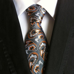 Men's Ties for Suits Paisley Neck Ties Polyester Plaid Necktie Floraldresskily-dresskily