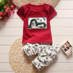 Summer Children Boy Clothes Sets Kids 2pcs Short Sleeves T-Shirt Toddlerdresskily-dresskily