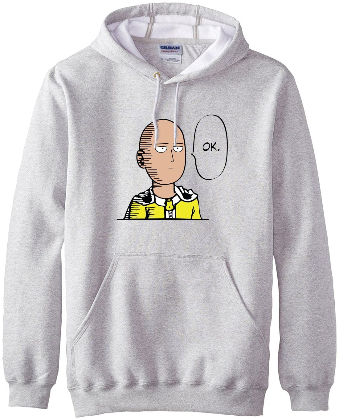 new arrival Anime One Punch Man Hoodies OK Printed Men Sweatshirts 2017dresskily-dresskily