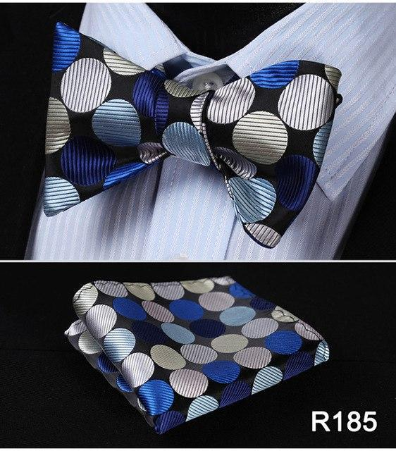 Polka Dot Men Bow Tie Set, Paisley Floral Silk Bow Tie, Wovendresskily-dresskily