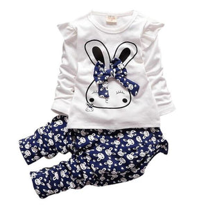 Kids Clothes 2016 Autumn/Winter Infant Baby Girl Casual Long Sleeve Cartoon Rabbitdresskily-dresskily