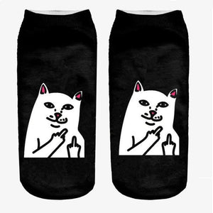 3D Printed Women Socks New Unisex Cute Low Cut Ankle Socksdresskily-dresskily