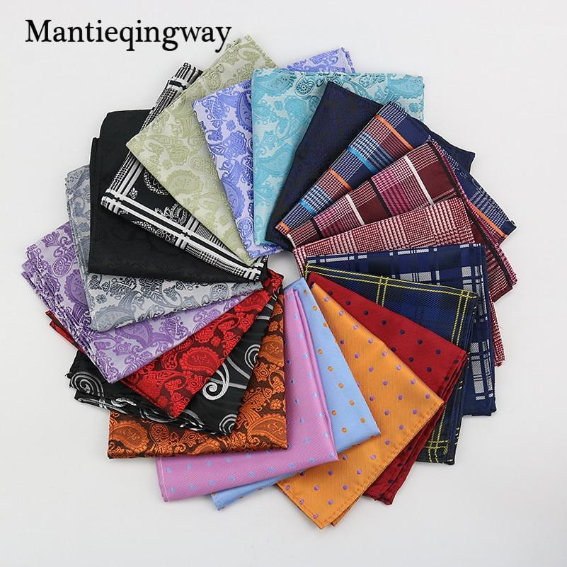 Polyester Hanky Gold & Black Paisley Men Fashion Plaid Pocket Squaredresskily-dresskily