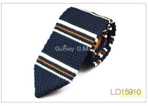 New Fashion Sharp Men's Tie Knitted Ties Mens Casual Striped Knit Necktiedresskily-dresskily