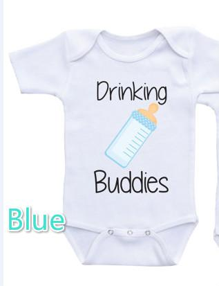Funny Baby Bodysuits Newborn Summer Jumpsuit Hipster T-shirts White Onesie With Lettersdresskily-dresskily