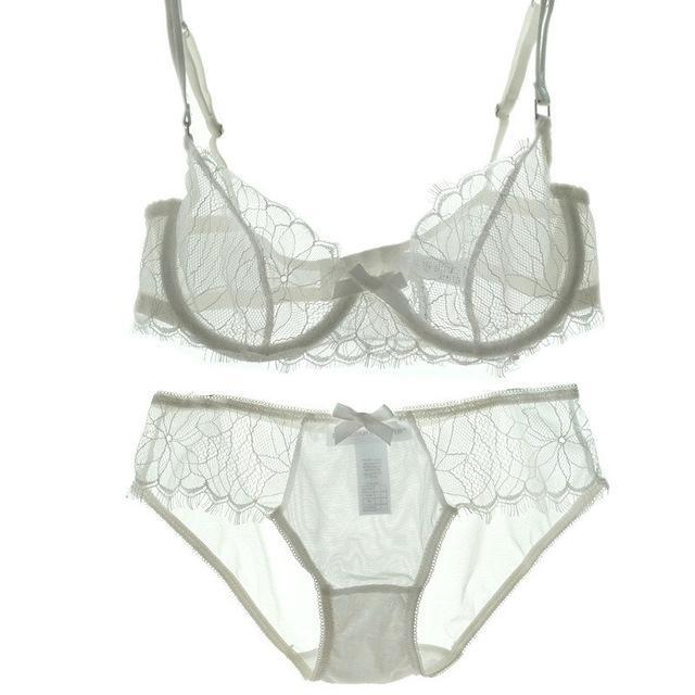 Sexy Bra And Panty Sets See Through bra transparent Underwear Set Fordresskily-dresskily