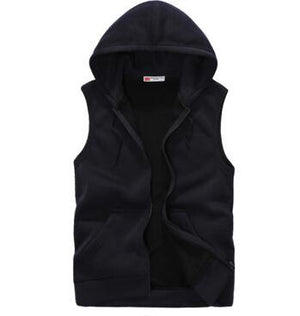 EAS 2016 New Fashion Casual Mens Sleeveless Hoodies Slim Fit s Hipdresskily-dresskily