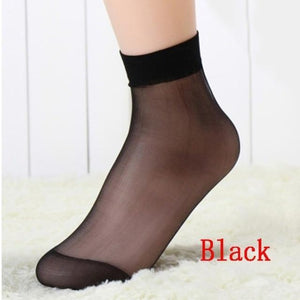 10 Pairs/lot Summer Style Black Skin Color Sexy Women' Lady Ultra Thindresskily-dresskily