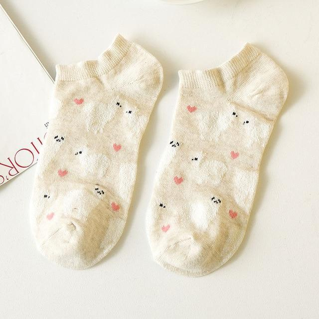 2017 Novelty Women Alpaca Tube Socks Japanese Cute Women's Animal Cartoon boatsocksdresskily-dresskily