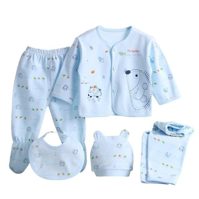 5 Pieces/set Newborn Baby Clothing Set Brand Baby Boy/Girl Clothes 100% Cottondresskily-dresskily
