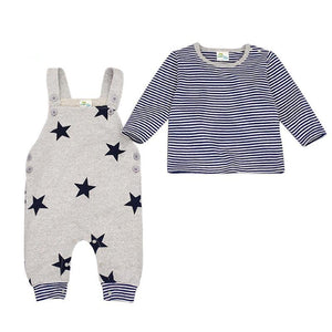 Baby Rompers Girl Clothing Boy Clothes Set Newborn Body Suits t-shirt+ Jumpsuitdresskily-dresskily