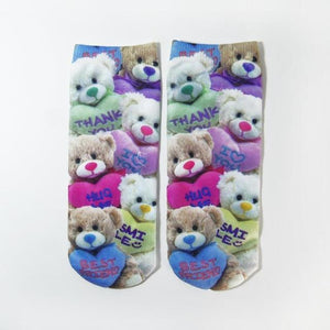 3D Printed Socks Women New Unisex Cute Low Cut Ankle Socks Multipledresskily-dresskily