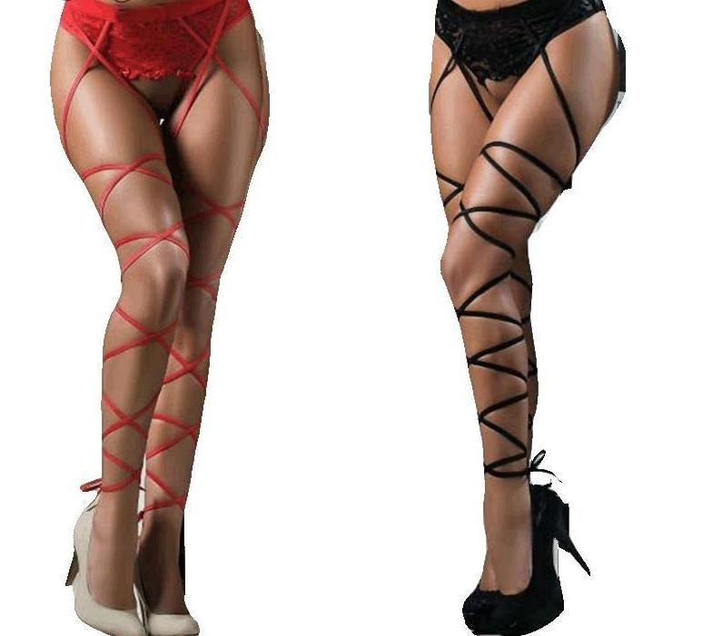 Women's Sexy Stockings Top Thigh-Highs Lingerie Hot Garters Lace Belt Set Underweardresskily-dresskily