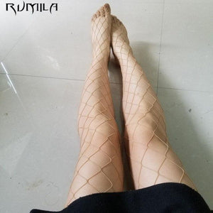Black medium grid SEXY women high waist stocking fishnet club tights pantydresskily-dresskily