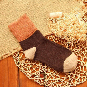 High quality winter vintage thicken warm rabbit wool women socks female fashiondresskily-dresskily