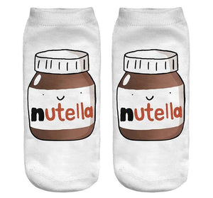 Fashion 3D Printed Women Socks White Peanut Butter Bottle Women Unisexdresskily-dresskily