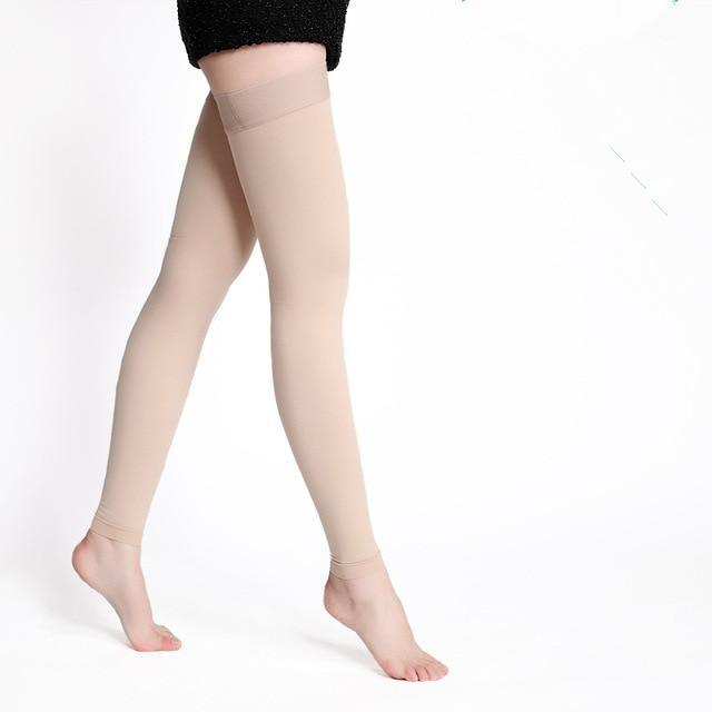 One Pair Medical Compression Stockings Varicose Veins 20-30mmhg Pressure High - Abovedresskily-dresskily