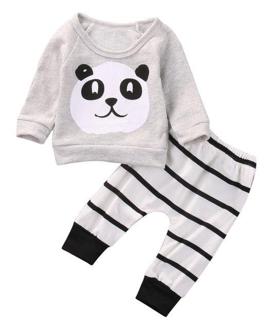 Cute Newborn Kids Baby Boys Girls T-shirt +Pants Infant Clothes Outfits 2pcsdresskily-dresskily