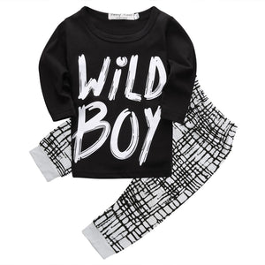 2017 autumn baby boy clothes Long sleeve Top + pants 2pcs sportdresskily-dresskily