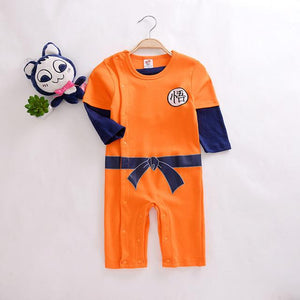 Hot Dragon Ball Goku Outdoor Rompers WuKong Spring Summer practicing Cotton Jumsuitdresskily-dresskily