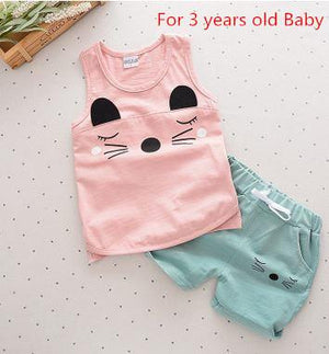 Baby girls boys clothes sets Summer Sleeveless Set Children Boys Girls Kidsdresskily-dresskily