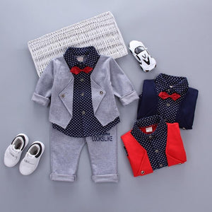 Hot Sales Infant Baby Boys Sets Red Plaid Long-sleeved Shirt+ Pants 2pcsdresskily-dresskily