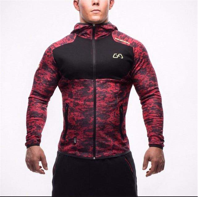 2016 New Sweatshirt Mens Bodybuilding Hoodies Brand-clothing Workout Fashion Hooded Tracksuit ordinarydresskily-dresskily