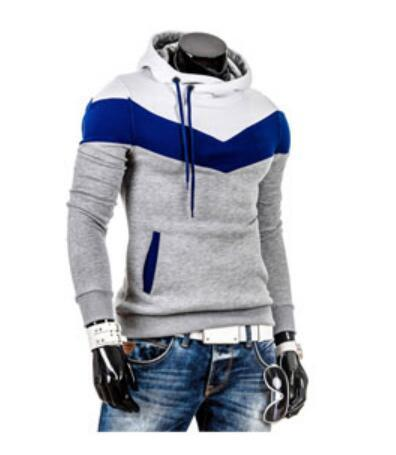 2017 Spring leisure Mens hooded sweatering aliexpress brushed stitching men's coats havedresskily-dresskily