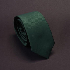 Men Solid Navy Blue Classic Ties for Bridegroom Green Color 6cmdresskily-dresskily