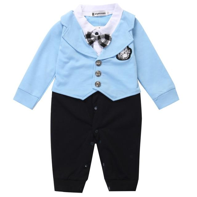 1Pcs Kid Infant Toddler Newborn Baby Boy Cotton Gentleman Romper Jumpsuit Formaldresskily-dresskily