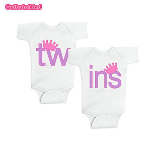 Twins Baby Bodysuits clothes Christmas Gift Buy one Get one free Babydresskily-dresskily